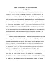 Essay 1 – Rebuttal Argument – the Relevance of Literature