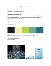 Water Bottle PSA Design Template