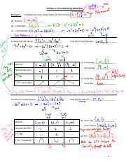 4.4 - Curve Sketching Worksheet Filled In - Calculus 1 Curve ...