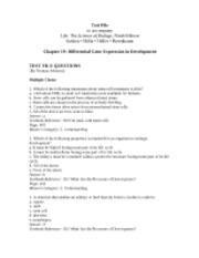 Ch19 Test File-Differential Gene Expression in Development