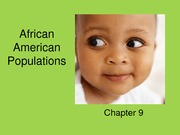 Chapter 9 African American Populations
