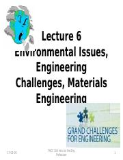 Lecture 6 Engineering Challenges and Overview of Disciplines Friday