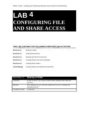 410 R2 Lab Worksheet Lesson 04 Configuring File And SHare Access