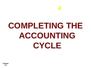 C 4 Completing the Accounting Cycle