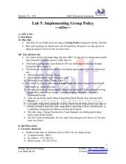 LAB_03 Implementing Group Policy