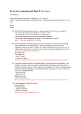 On-line test preparation guide Topic 2- Corrections