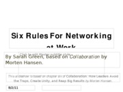 Six Rules For Networking at Work