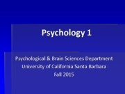 F15  Psychology 1 Research Requirement Slides