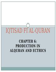 C6 (Production  in Quran and Ethic I ).pptx
