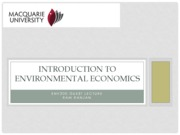 Week 3 Lecture 6 - Introduction to Environmental Economics