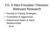 Ch. 6 Neo-Freudian Theories
