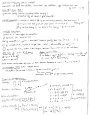 Math 294 Final Cheat Sheet