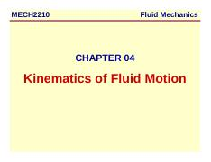 Chapter-04-Kinematics of Fluid Motion