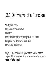3.1+-3.2+Derivative+of+a+Function.ppt