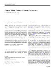 (HR) Codes of ethical conduct_A bottom-up approach.pdf