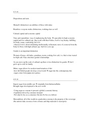 Dispositions and Taste, Cultural and Cuisine Class Notes 9