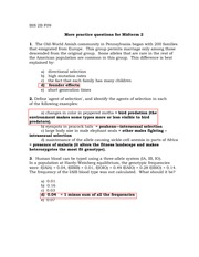 Answers for Extra practice questions for midterm II