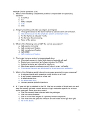 Practice test 2 for fall 2007 Answers