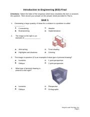 ied 2014 final exam answers for pltw