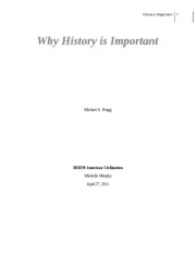 Why History is Important