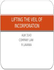 5.LIFTING THE VEIL OF INCORPORATION