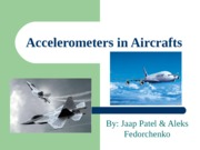 Accelerometers in Aircrafts