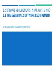 SRE - Ch.01 - The Essential Software Requirement