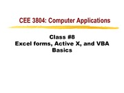 VBA Basics Notes