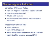 Class 102 - Electromagnetic Induction