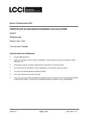 Adv Business Calculations L3 Past Paper Series 3 2012.pdf