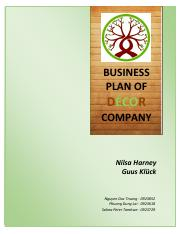 Business Plan_Decor Company