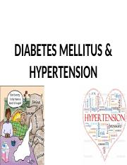 Lecture 13 Diabetes  Hypertension