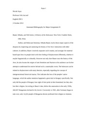 Annotated Bibliography ENG 298 G