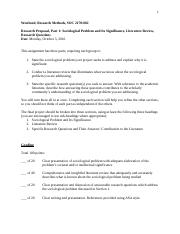 Research Proposal - Part 1