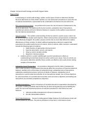 Chapter 13 Overall Audit Strategy and Audit Program Notes.docx