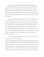 How To Write A Thesis Statement For An Essay  Pages Final Draft Me Talk Pretty One Day Analysis Essay Amanda  Paolinidocx Advanced English Essays also Sample Essays For High School Students Revised Rough Draft Docx  Amanda Paolini Eng    Examples Of Argumentative Thesis Statements For Essays