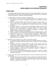 chapter 2 worldwide accounting diversity International accounting provides an overview of the broadly defined area of international accounting,  chapter 2 worldwide accounting diversity 23.