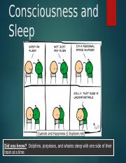 Consciousness and Sleep.ppt