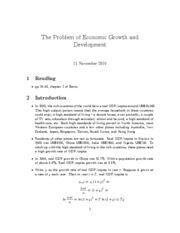 14. The problem of economics grwoth and development