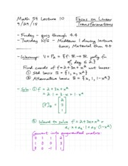 MATH 54 Lecture 10 - 9-29-15