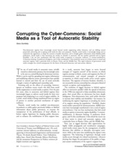 Corrupting the cyber-commons- Social media as a tool of autocratic stability