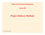 PCM-Lecture06-Project-Delivery-Methods