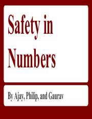 Safety in Numbers Physics Project (1)