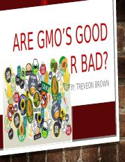 Are GmO's Good OR Bad