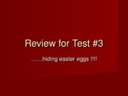 Review for Test 3 AP1