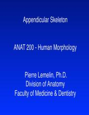ANAT 200-Appendicular skeleton