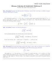 Math 2423  Midterm 1 Solutions