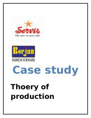 Case study on production