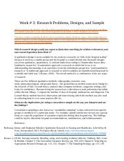 Week_3 Research Problems, Designs, and Sample.docx