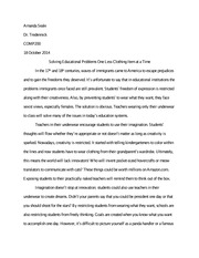 oneonta essay